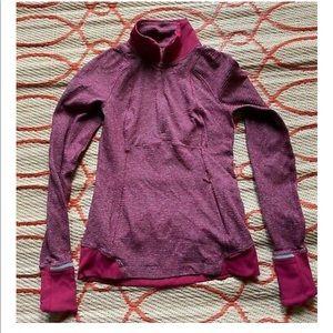 Lululemon Women's 4 Sweater Half Zip Thumb Holes
